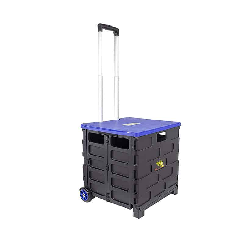 Quik Cart Pro Wheeled Rolling Crate