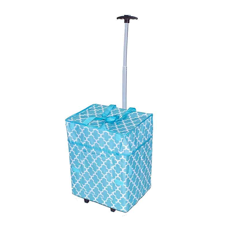 dbest Morocan Tile Collapsible Rolling Utility Cart