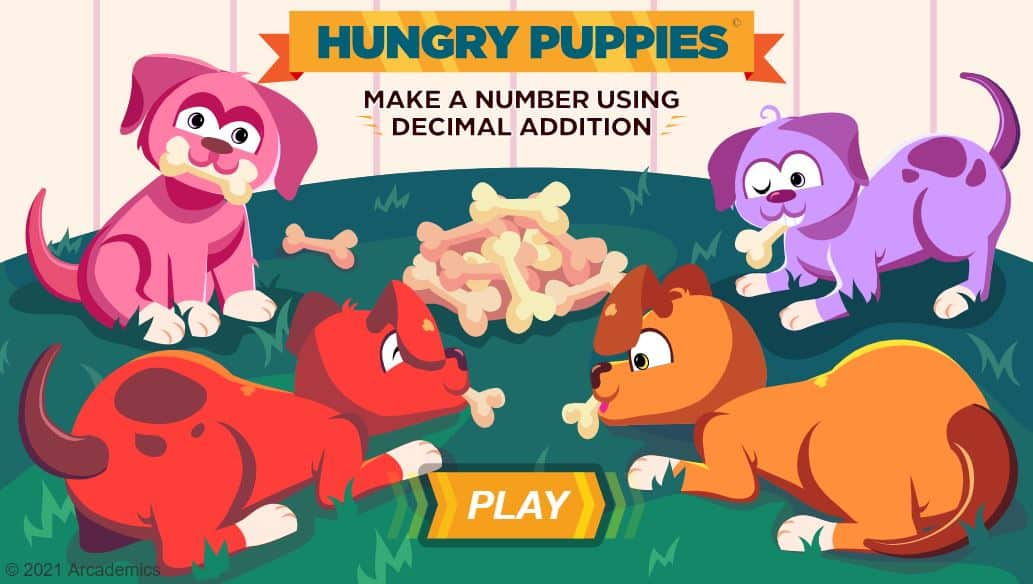 hungry puppies