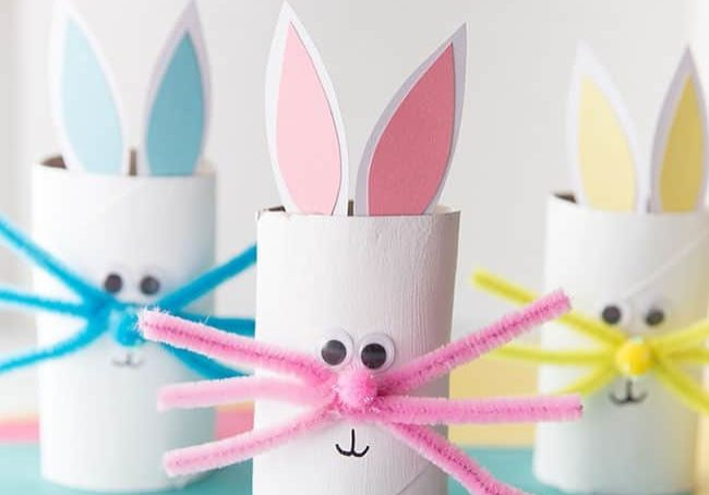 toilet paper roll bunny